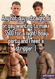 Straight bi gay partie