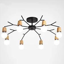 Die schnittstelle zwischen dimmer und leuchte ist nicht normiert. Hyw Deckenleuchte Nordic Stil Led Lampe Holz Lampe Korper Klebrig Kronleuchter Wohnzimmer Schlafzimmer 3 5 8 Lampe Home Warme Deckenleuchte B Drei Farben Dimmen 5 Lichter Buy Online In Aruba At Desertcart Productid 96847868