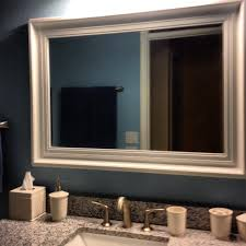 Framing A Large Mirror Mirror Frame Kit Bathroom Mirror Frame Kit Home Depot This
