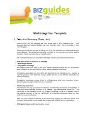 What To Include In A Marketing Plan Marketing Plan Template