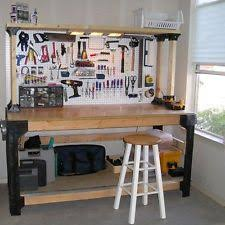 garage bench. workbench table kit diy bench custom storage wooden shelf garage shop workshop
