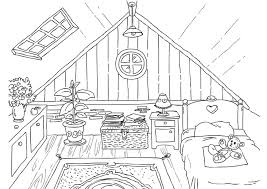Attic drawing Scary Coloring Page Attic Edupics Coloring Page Attic Img 26226