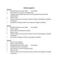 Werksuggesties Kleutergroep