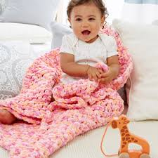 Bernat Baby Blanket Yarn Patterns Classy Bernat Simple Baby Blanket Yarnspirations