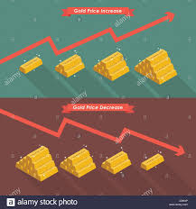 Gold With Price Chart Vector Illustration Stock Vector Art