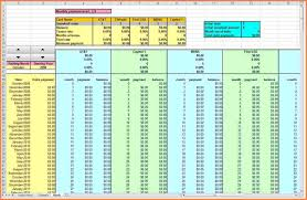 debt reduction calculator snowball debt snowball calculator excel excels download