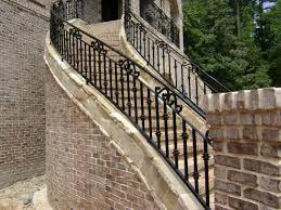 image of outside metal stair railing