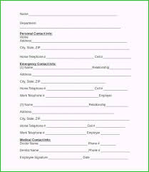 In Case Of Emergency Form Template Beautiful Ideas You