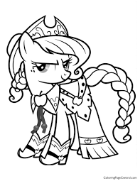 Small Picture My Little Pony Applejack 01 Coloring Page Coloring Page Central