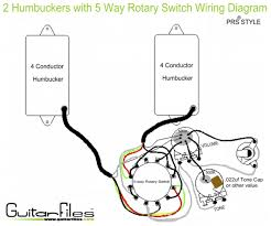 2 humbuckers 5 way rotary switch wiring diagram guitar tech 2 humbuckers 5 way rotary switch wiring diagram