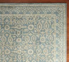 picturesque pottery barn rugs 9x12 in adeline rug blue