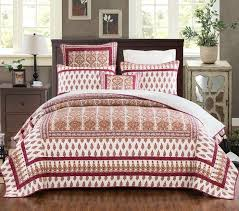 16 best Quilted Coverlet Bedspread Sets - Thin & Lightweight Dorm ... & DaDa Bedding Bohemian Moroccan Tear Drop Rubies Paisley Cotton Quilted  Bedspread Set (JHW-653) Adamdwight.com