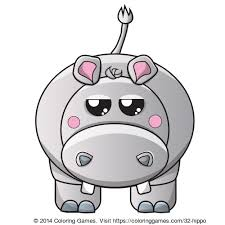 Small Picture Hippo coloring page Animal Coloring Pages Pinterest