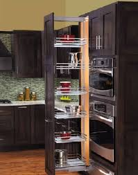 decorations luxury sliding kitchen pantry decor with black wood kitchen cabinet and brown textured wood