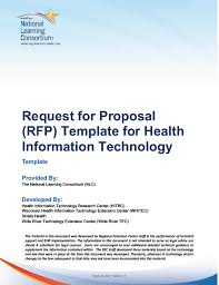 Request For Information Template Hiteq Center Request For Proposal Template For Health