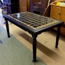 Table With Tile Top Tiled Kitchen Table Fpudining