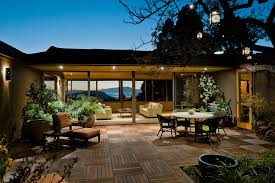 patio cover lighting ideas. French Doors And Soft Glow Bring Together A Fashionable Patio. The Presence Of Warm Fire Generous Landscaping Brings This Look Grand Design. Patio Cover Lighting Ideas