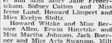 witzke howard Bernice Allen grand march May 1938 - Newspapers.com