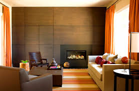 modern gas fireplace living room contemporary with accent wall area rug