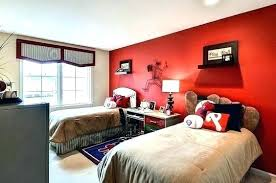 accent walls for bedrooms. Grey Bedroom With Red Accent Wall Accents Walls For Bedrooms