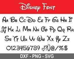 Disney Font Waltograph Stencil Etsy