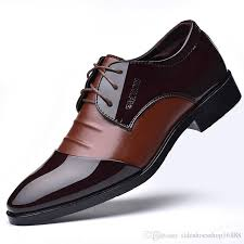 business men dress shoes patent leather oxford shoes basic male formal shoes big size 38 48 handsome men pointed toe shoe for wedding boots for men wedge