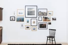 gallery wall framed photos