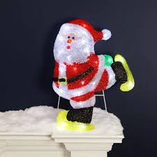 fullsize of artistic outdoor lit acrylic santa outdoor now from festive lights disney outdoor decorations