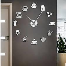 wall clock mirror binding modern clock