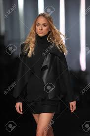 ZAGREB, CROATIA - MARCH 14 Fashion Model Wears Clothes Made.. Stock Photo,  Picture And Royalty Free Image. Image 18584431.