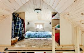 tiny house vermont. The Bedroom Is In A Loft Reached By Ladder. Tiny House Vermont