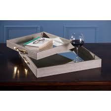 beth kushnick beige mirrored tray set the decorative trays bathroom cultured marble vanity tops mosaic bath
