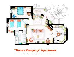 10 Of Our Favorite TV Shows Home U0026 Apartment Floor Plans  Design MilkPsycho House Floor Plans