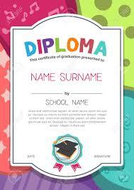 preschool kids diploma certificate background design template  preschool kids diploma certificate background design template stock vector 46178877
