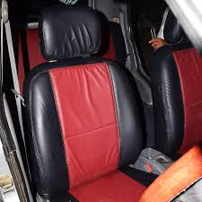 red with black seat cover alto