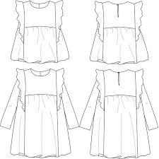 Blouse Sewing Pattern Best Stella DUO Blouse Dress Girl 4848 PDF Sewing Pattern Ikatee