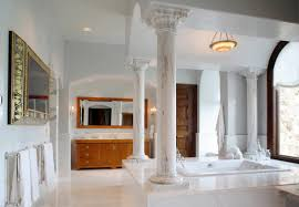 Lovely Add Grandeur To Your Bathroom With Beautiful Marble Columns