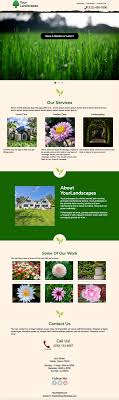 landscaping templates free free one page landscaping website templates