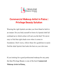 mercial makeup artist in patna privilege beauty solution by poonam murari issuu