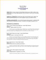 Sample Resume For No Experience Flight Attendant Refrence Job