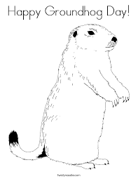 Small Picture Happy Groundhog Day Coloring Page Twisty Noodle
