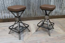 Home And Interior: Amazing Industrial Style Bar Stools Of Copper Stool With  Back Rest Modern