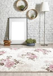 rose colored area rugs beige pink brown fl rose branches transitional area rugs bungalow rose fujii