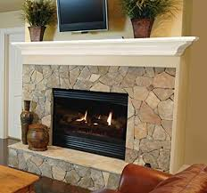 White fireplace mantel shelf Brick Fireplace Image Unavailable Amazoncom Amazoncom Pearl Mantels 61848 Crestwood Wall Shelf 48inch