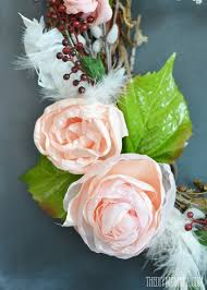 gorgeous spring wreath made from a gvine wreath diy fabric roses silk leaves