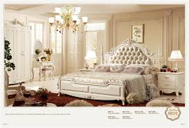 Delightful French Style Royal Home Use Furniture Antique Wooden Bedroom Set 0402