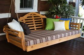 Porch Swing Bed Cedar 75 Marlboro Swing Bed Al