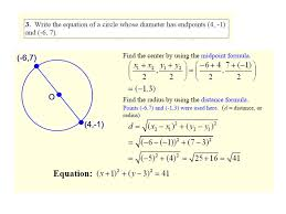 ppt equations of circles