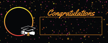 Congratulations For Graduation Congratulations Graduation Black With Coloured Dots Design Medium Personalised Banner 6ft X 2 25ft