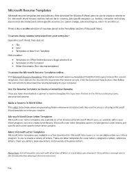 Microsoft Office Resume Templates 2013 Englishor Com